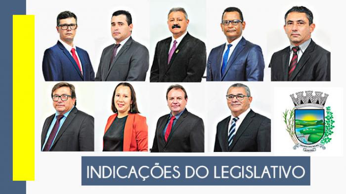 Confira as indicações dos vereadores na 4ª Sessão Ordinária, realizada em 23/02/2021